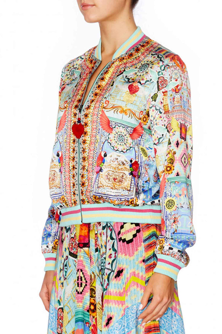 Bomber Jacket in Close To My Heart by Camilla Frockaholics.com