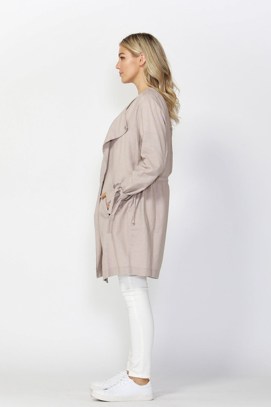 Espionage Trench in Almond