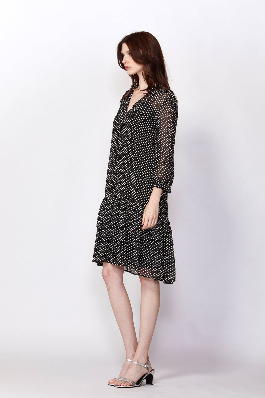 Beverly Polka Dot Ruffle Dress
