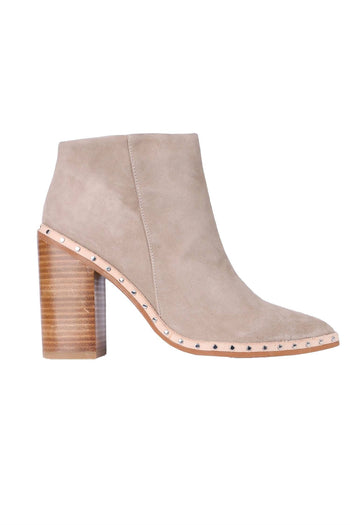 Shop Online Ajax Boot in Dove Suede by Sol Sana  Frockaholics Shoes