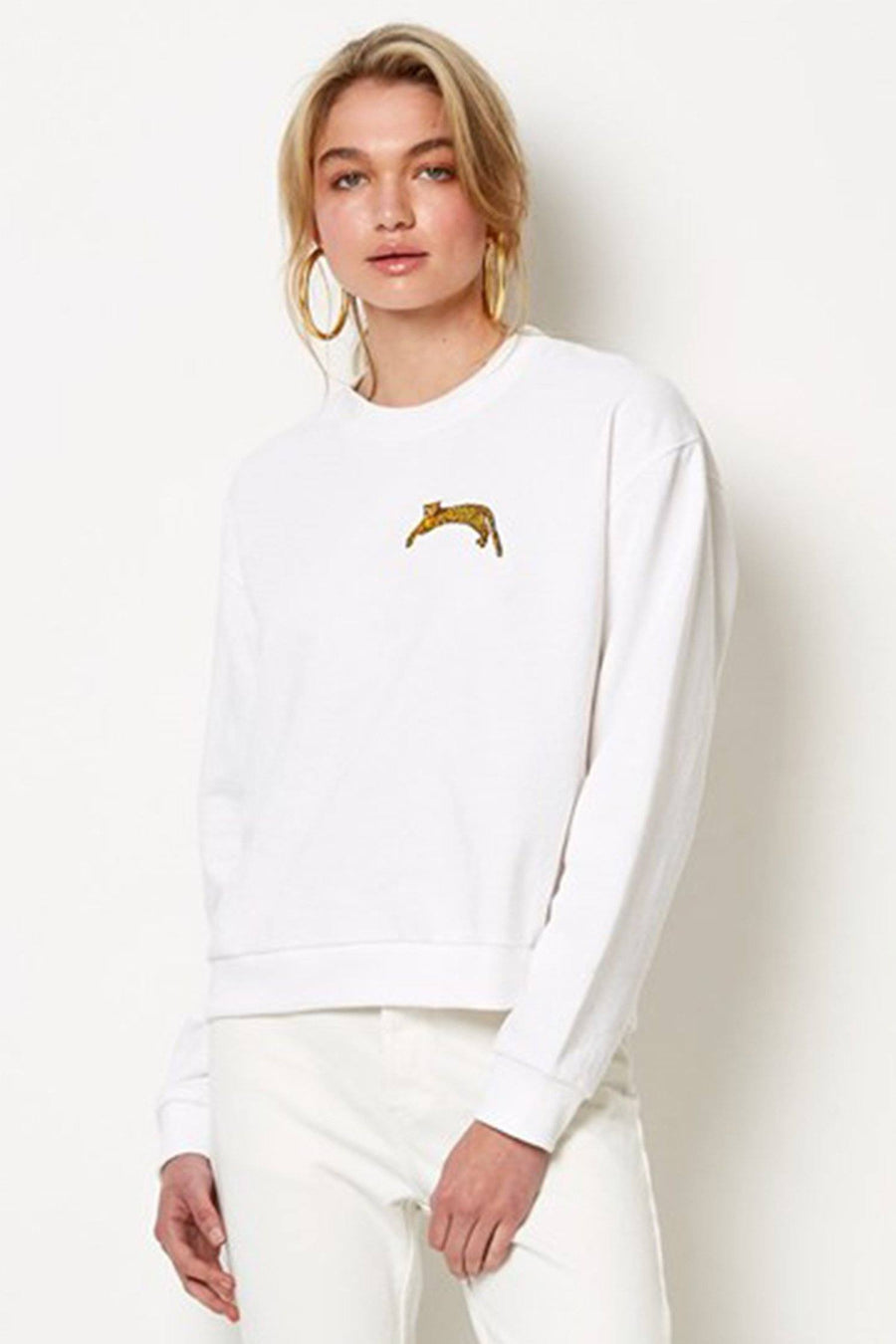 Cheetah Fever Jumper in Ivory