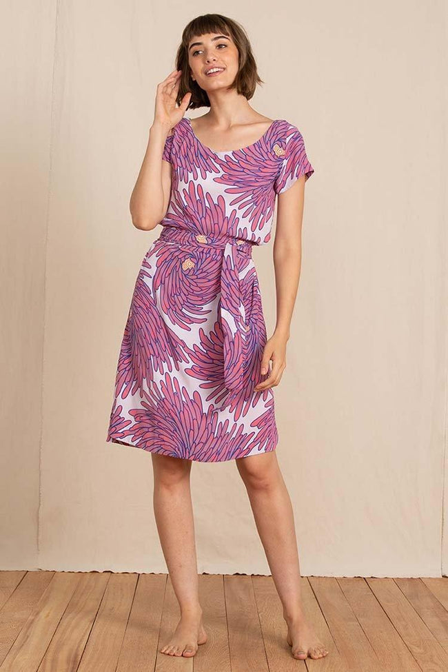 Lawn Dress in Harmony Pink
