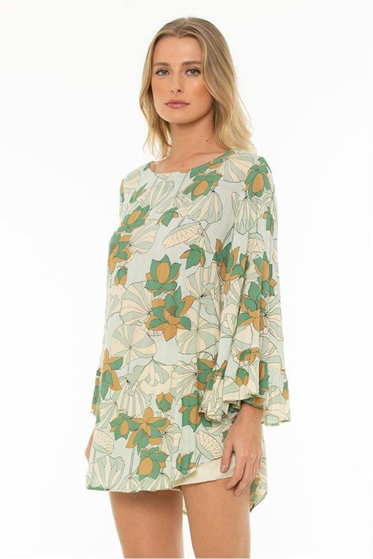 Pearl Tunic in Poet Green | FINAL SALE