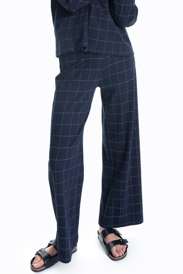 Tube Pant in Navy/Fog