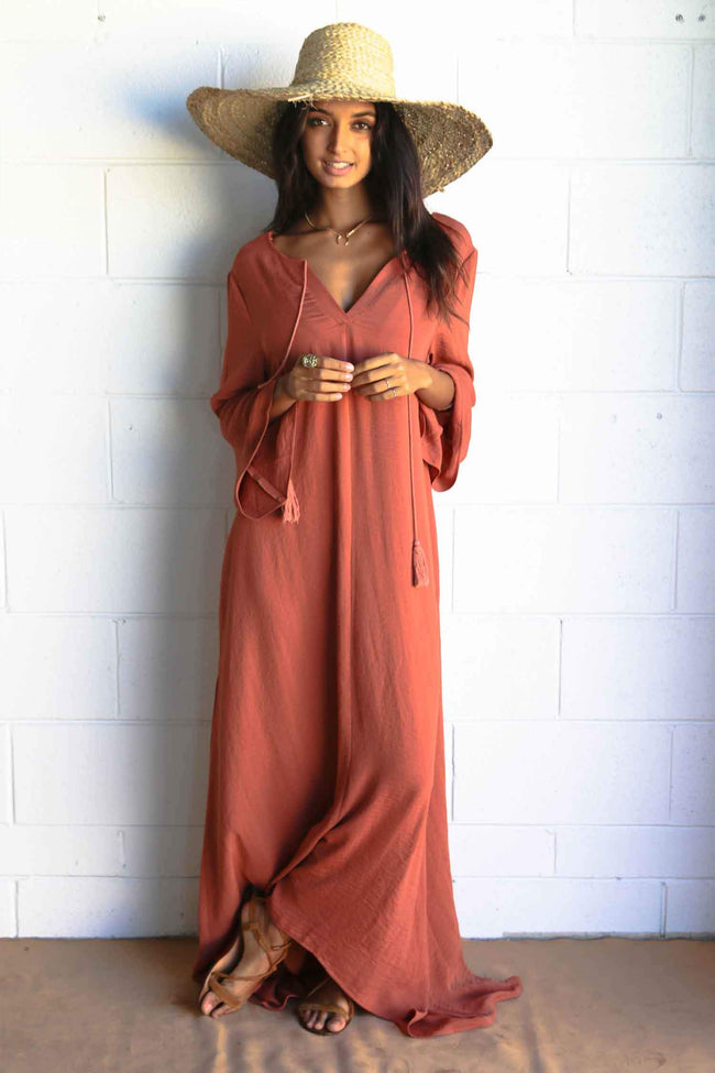 Dreamer Kaftan in Rose Sunset by The Gypsy And The Officer Frockaholics.com