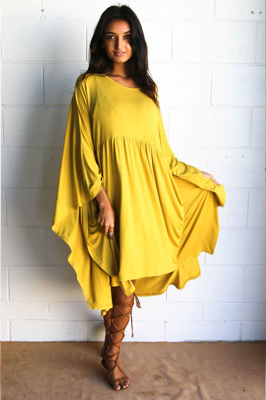 Iris Tunic in Mustard by The Gypsy And The Officer Frockaholics.com