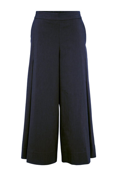 Vented Culotte in French Navy Bottoms Mela Purdie