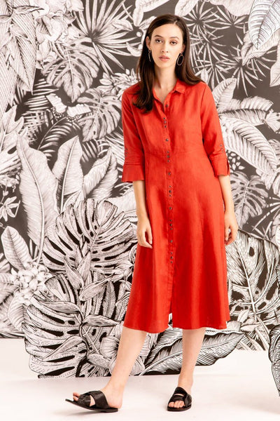 Bay Dress in Persimmon Dresses Verge
