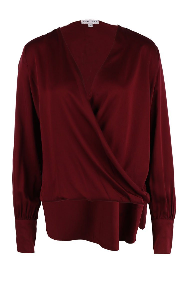 Talisha Top in Burgundy | FINAL SALE