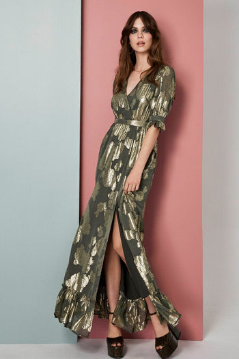 Adele Lurex Maxi Dress
