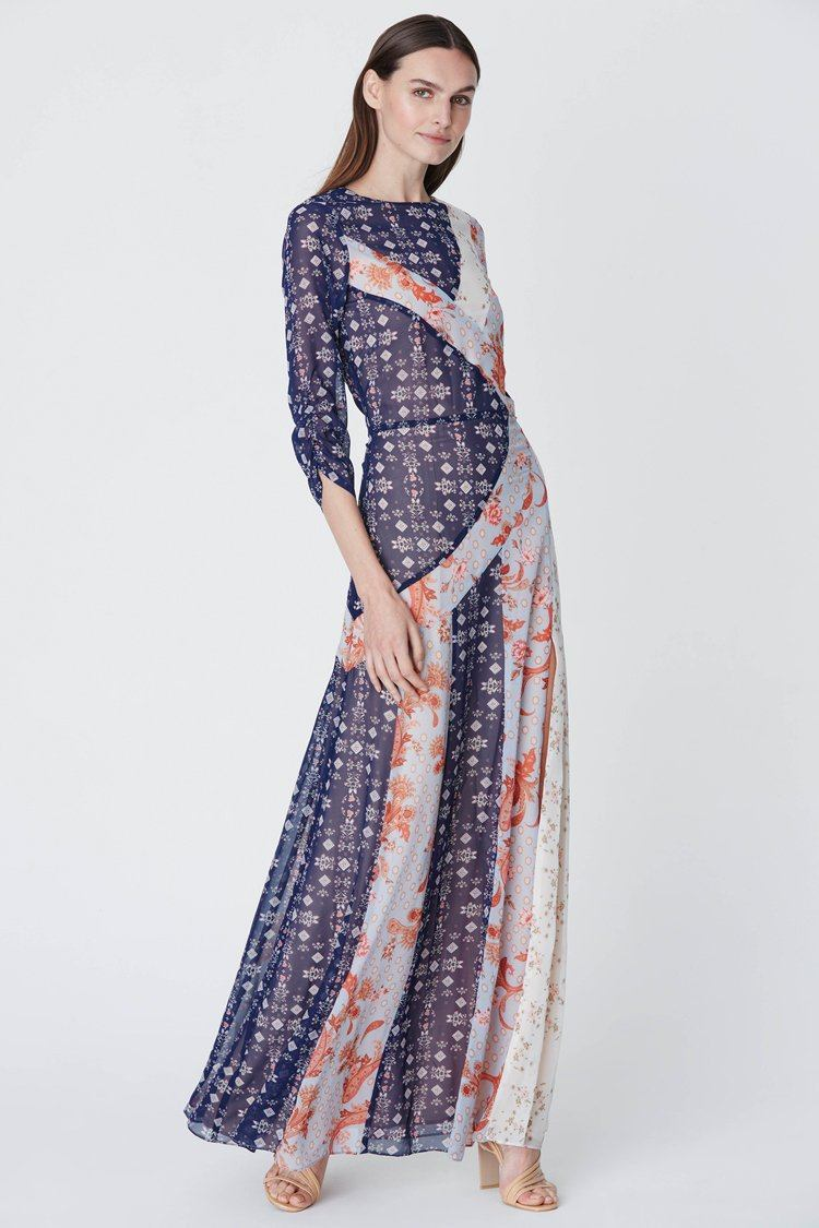 Evelyn Spliced Maxi Dress