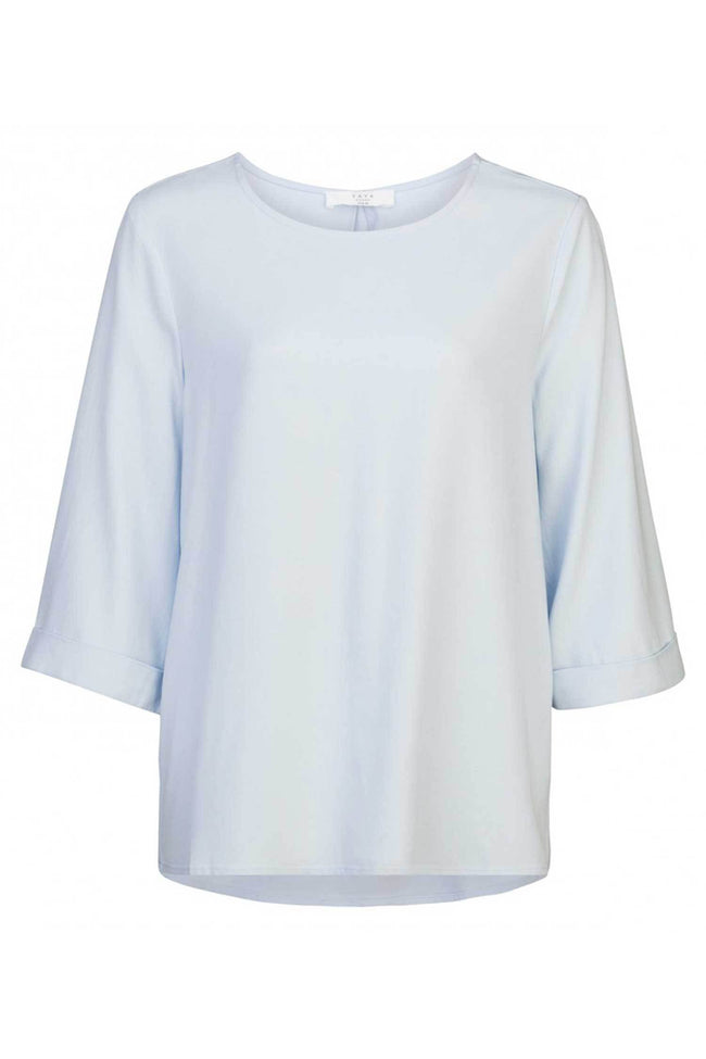 Shop Online Woven Top Kimono Sleeve in Baby Blue by Yaya | Frockaholics.com Tops