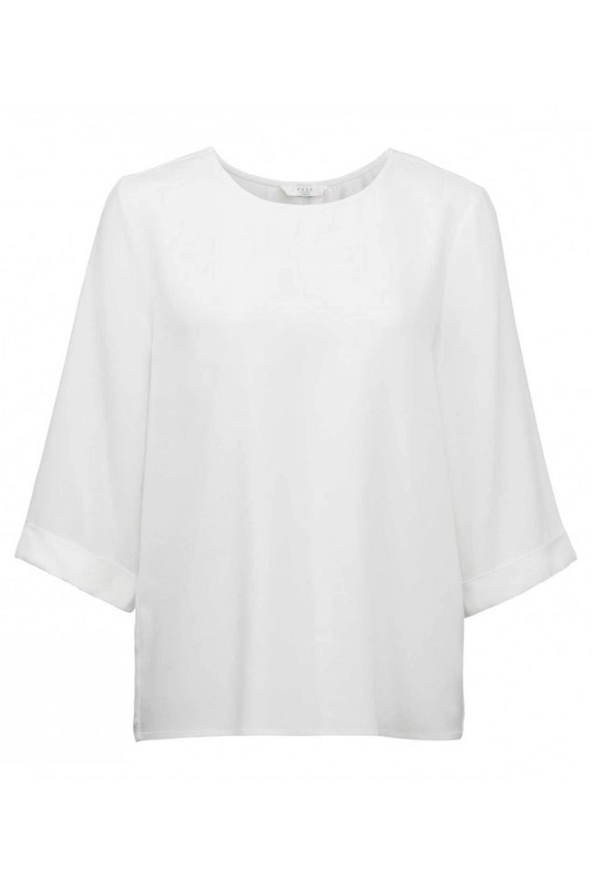 Shop Online Woven Top Kimono Sleeve in Off White by Yaya | Frockaholics.com Tops