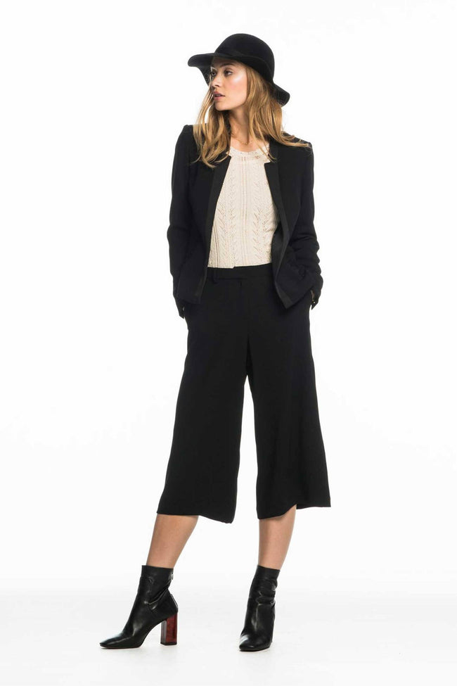 Tailored Tuxedo Jacket in Black by Maison Scotch