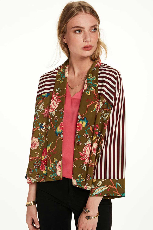 Printed Kimono Top in Combo C by Maison Scotch