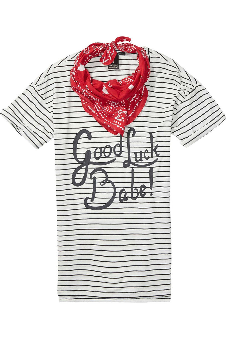 T-Shirt with Bandana in Combo S by Maison Scotch