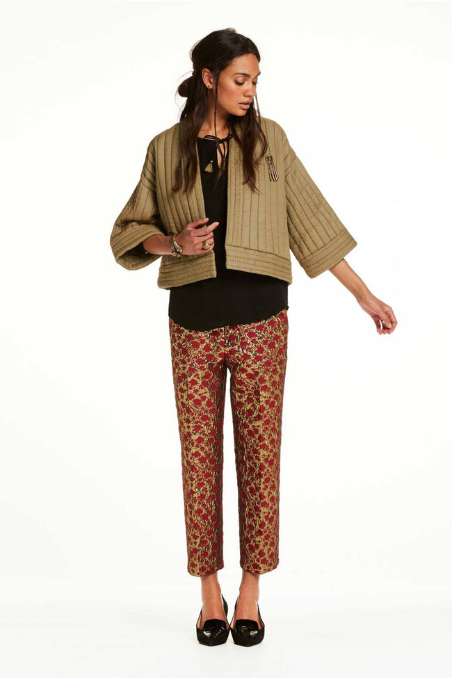 Jacquard Trousers in Combo A by Maison Scotch