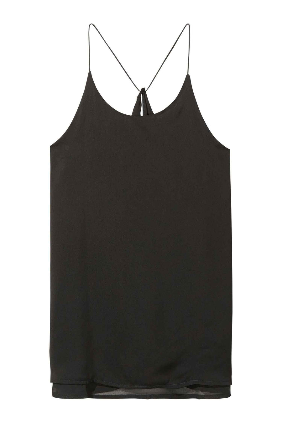 Double Layered Tank Top in Black by Maison Scotch Frockaholics.com