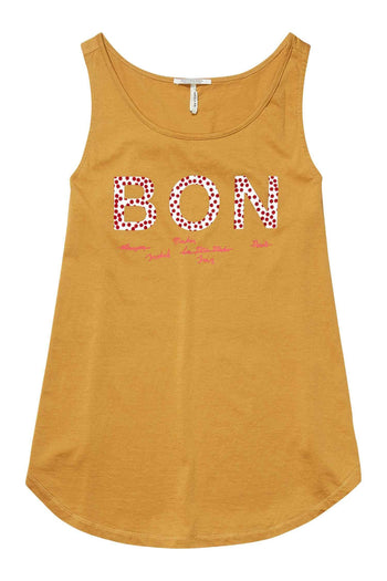 French Tank Top in Ochre by Maison Scotch Frockaholics.com
