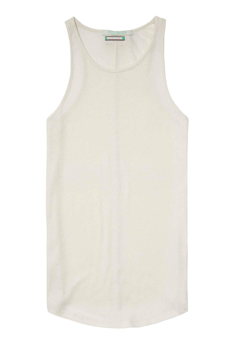 Shop Online Rib Tank Top in White by Maison Scotch  Frockaholics Tops