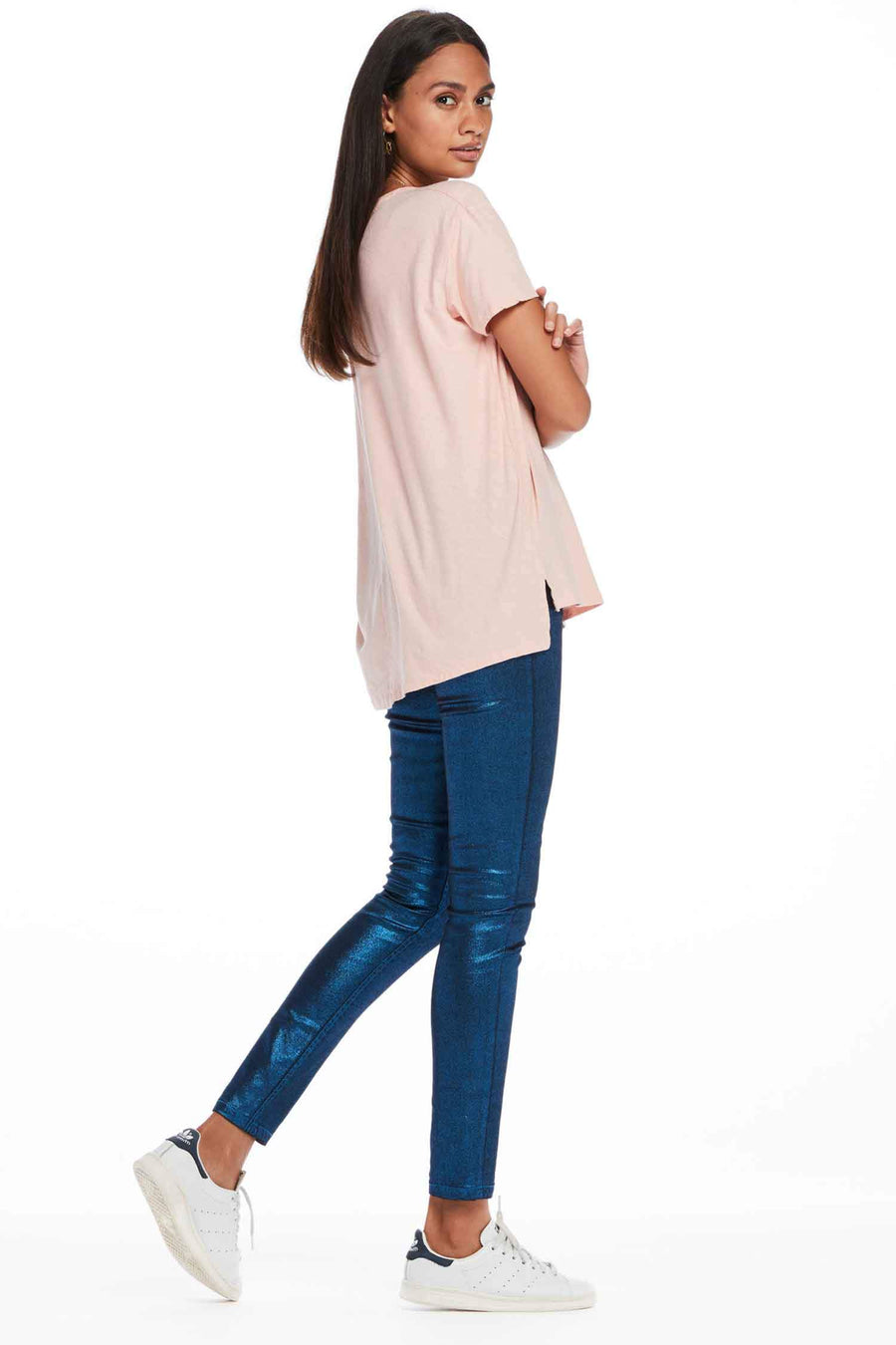 Basic Chest Pocket T-Shirt in Blush by Maison Scotch Frockaholics.com