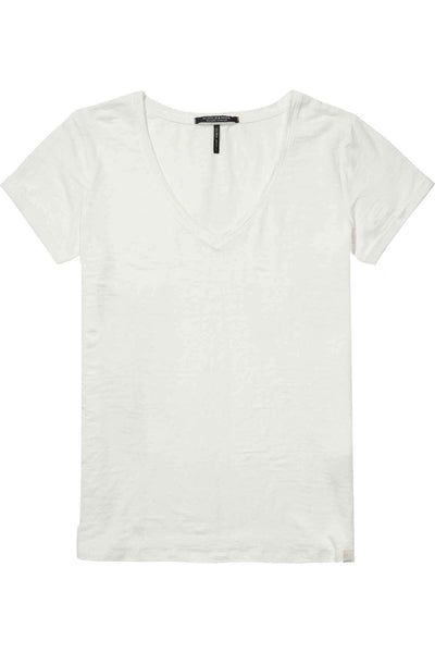 Linen V-Neck T-Shirt | FINAL SALE Tops Maison Scotch