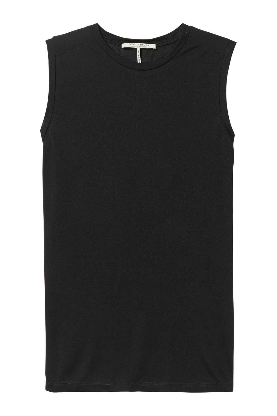 Shop Online Soft Jersey Top In Black by Maison Scotch  Frockaholics Tops