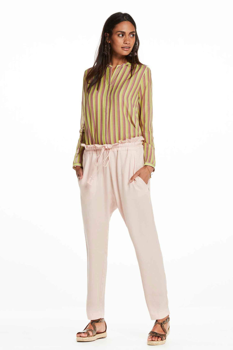 Relaxed Fit Paperbag Pants