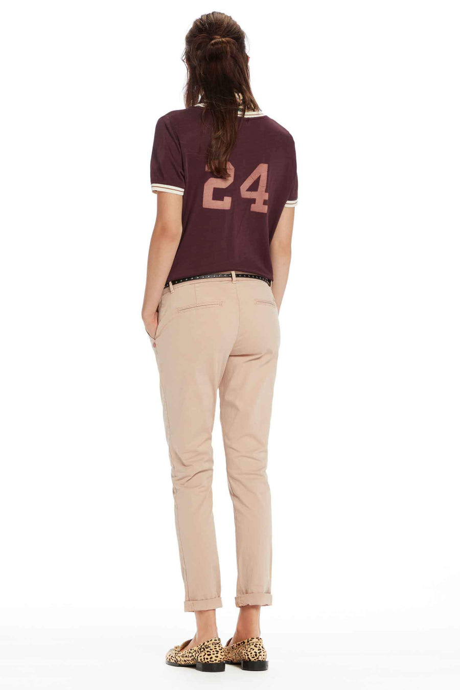 Belted Chinos Slim Fit in Blush by Maison Scotch Frockaholics.com
