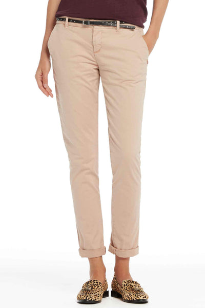 Belted Chinos Slim Fit in Blush | FINAL SALE Bottoms Maison Scotch