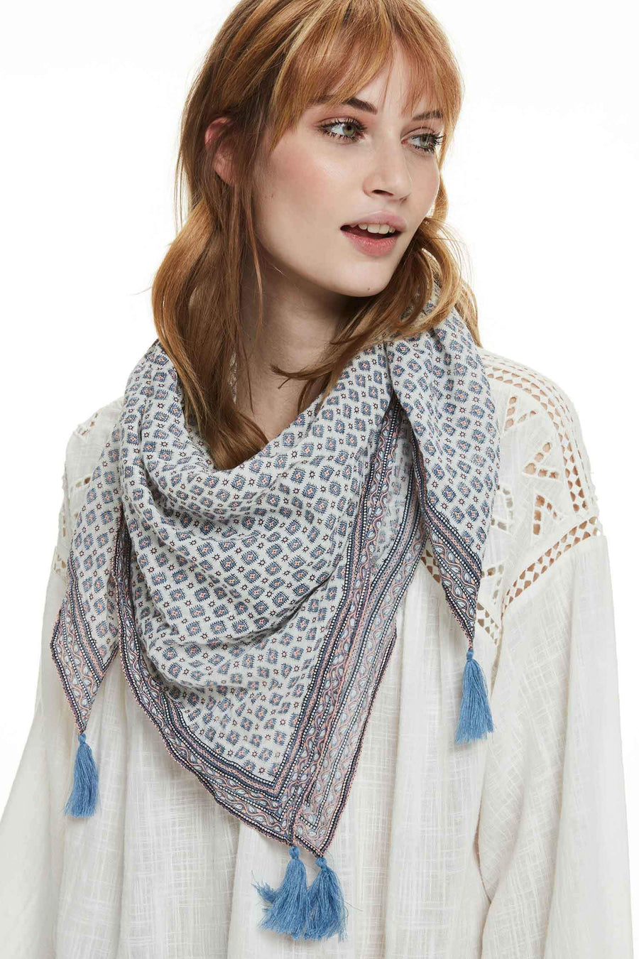 Cotton Scarf in Combo C by Maison Scotch Frockaholics.com