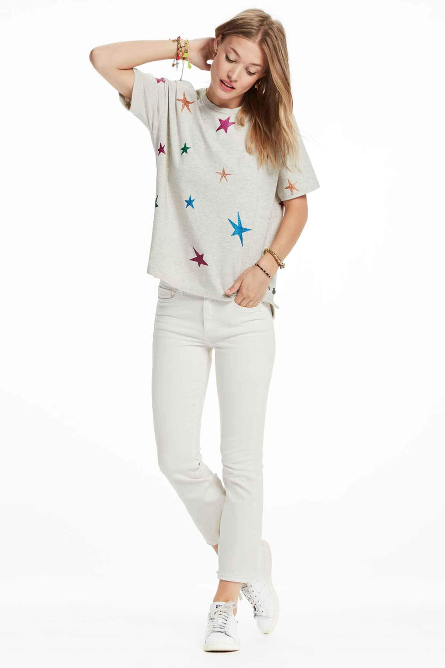 Star Printed T-Shirt in Combo F