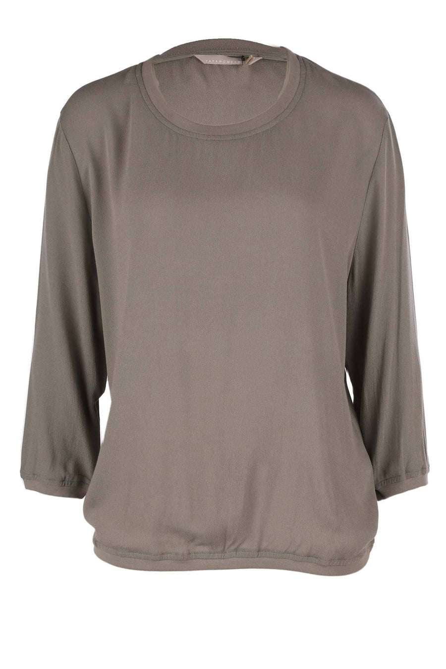 Blouson Top in Greyish Green