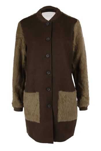 Shop Online Long Faux Fur Jacket by Yaya  Frockaholics Jackets & Outerwear