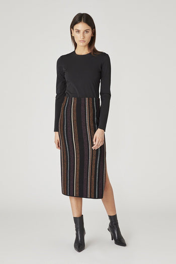 Ziggy Knit Skirt in Stripe | FINAL SALE