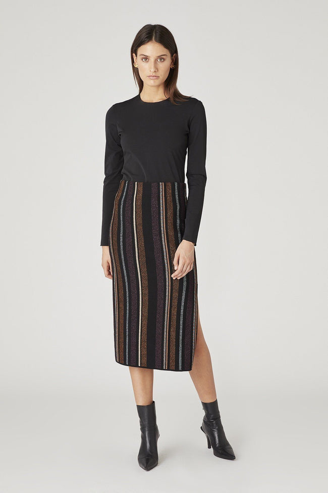 Ziggy Knit Skirt in Stripe