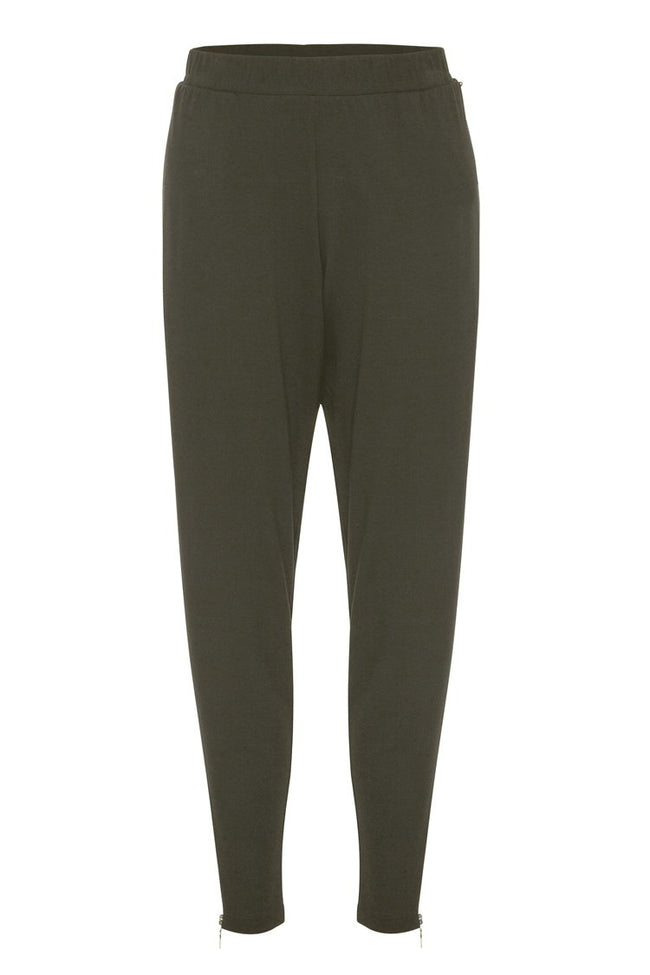 Zip Stiletto Pant in Kelp