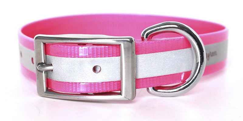 Waterproof Reflective Dog Collar -- Biothane - Bayside Buddy