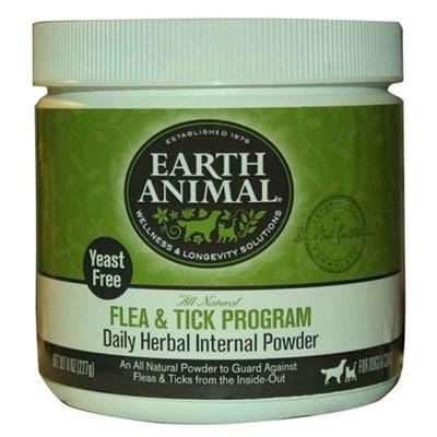 Earth Animal Flea and Tick Program Daily Internal Powder For Dogs 8oz Yeast Free - Bayside Buddy