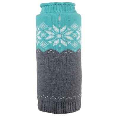 Ski Lodge Teal Roll Neck Sweater - Bayside Buddy