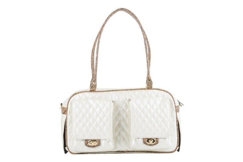 Marlee - Ivory Quilted With Snake