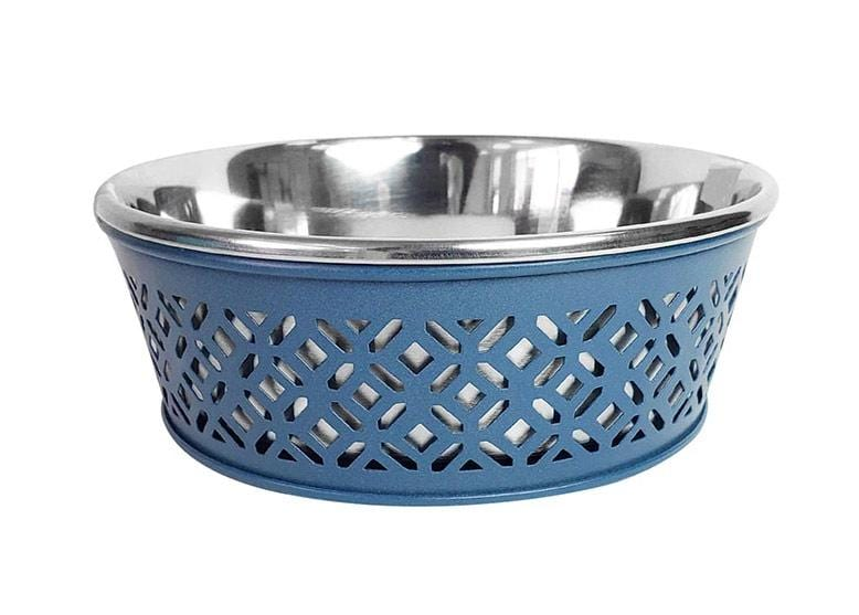 Mallard Blue Farmhouse Stainless Steel Dog Bowl - 30oz.