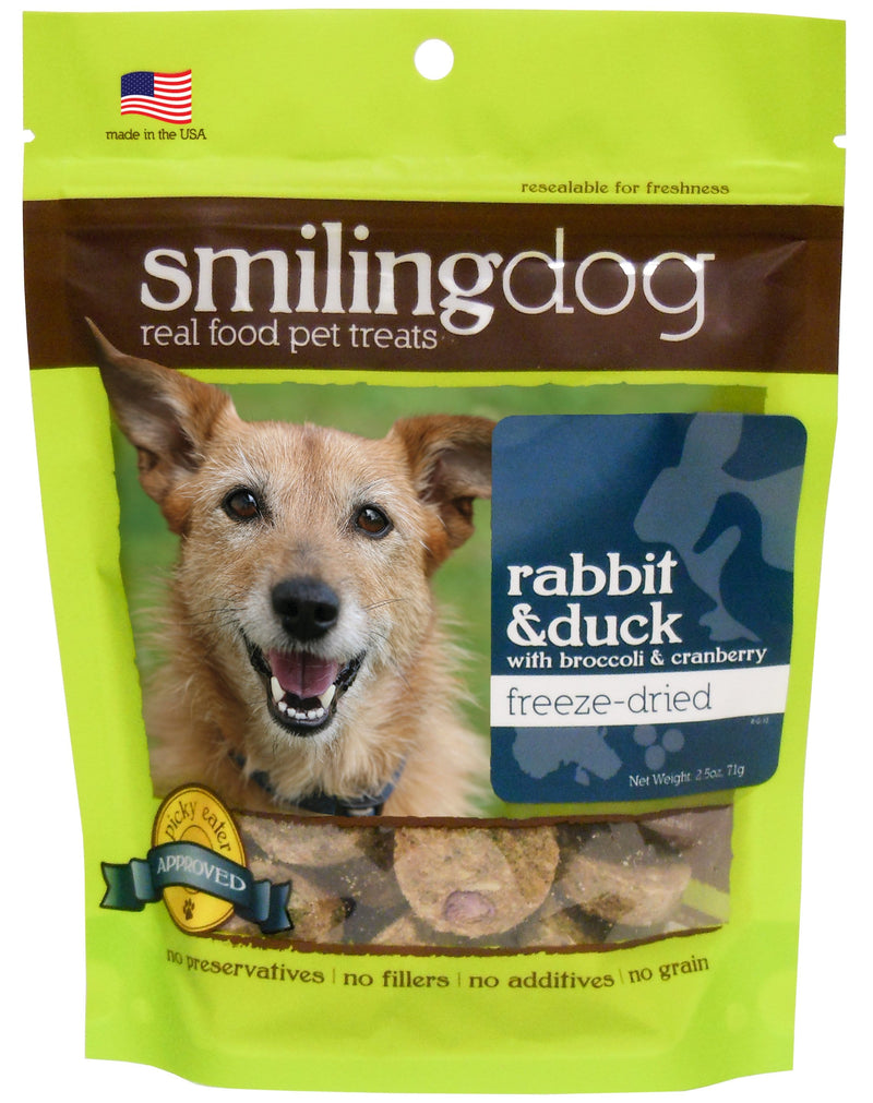 Smiling Dog Freeze-Dried Treats - Rabbit & Duck