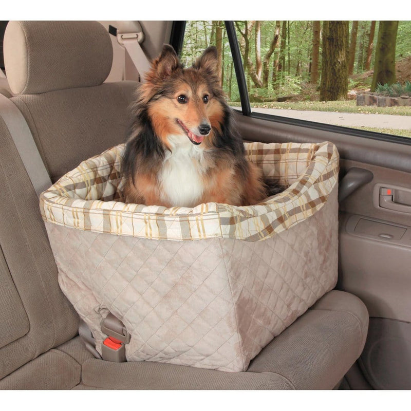 Tan Happy Ride™ Quilted Dog Safety Seat