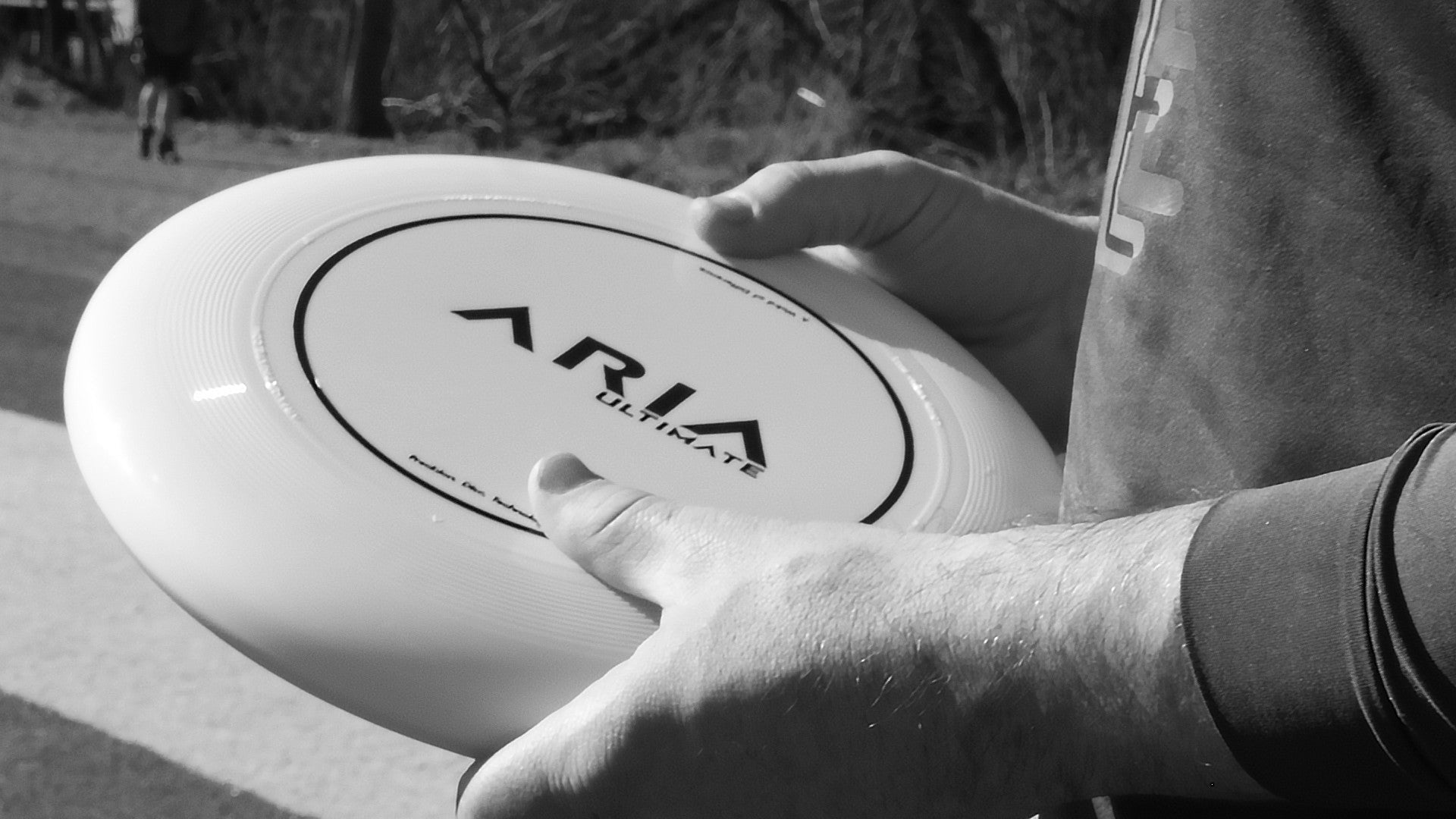 ARIA ultimate disc held with 2 hands