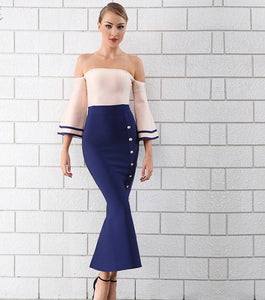 Kiss Kiss Mermaid Bandage Dress