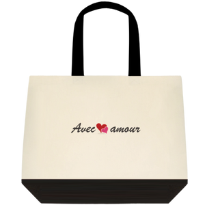 Avec amour limited tote bag