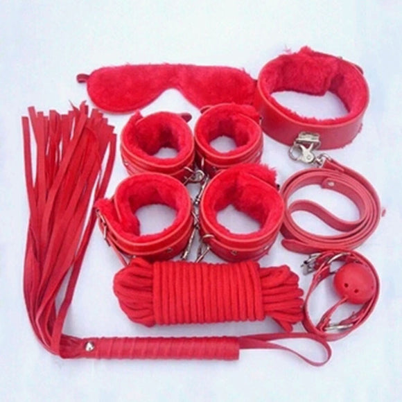 7pcs Pu Leather Bondage Restraints Set
