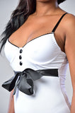 White Bra Top Baby doll With Satin Front