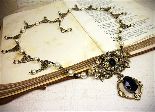 Custom Ash Leaf Renaissance Bridal Set -- view 1 -- by dosha of Rabbitwood & Reason.